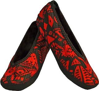NuFoot Fuzzies Ballet Flats Women's Shoes, Foldable & Flexible Flats, Slipper Socks, Travel Slippers & Exercise Shoes, Dan...