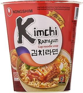 comprar comparacion Nong Shim Fideos Instantáneos en Vaso, Sabor Kimchi - 12 Unidades