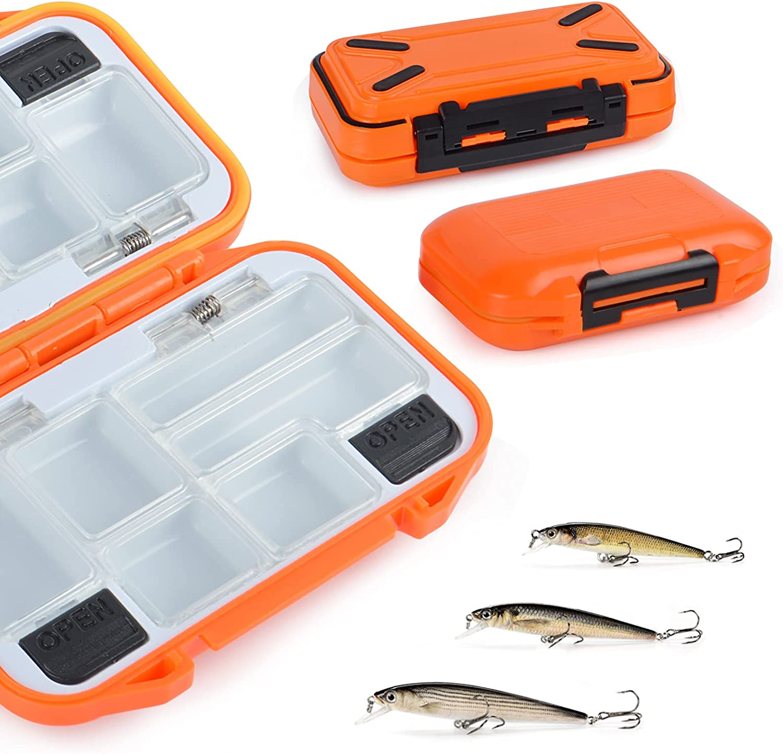2 Pcs Kids Fishing Tackle Box Mail order cheap Spasm price Small Waterproof T Mini Organizer