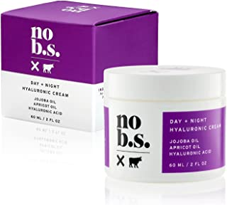 No B.S. Hyaluronic Cream For Face - Day + Night Potent & Clean Skin Care. No Hype. No Fads. Hyaluronic Acid, Jojoba Oil & Apricot Oil.