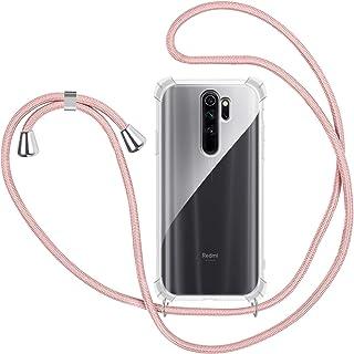 2ndSpring Funda con Cuerda Compatible con Moto G7//G7 Plus,Colgante Collar Correa de Cuello Cadena Cord/ón,Plata
