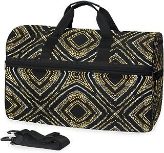 MONTOJ Übergroße Reisetasche aus Segeltuch mit goldenen Glitzern