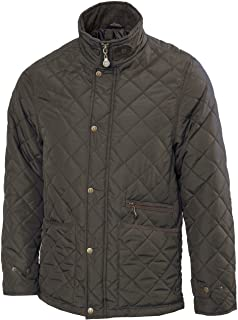 Vedoneire Mens Green Quilted Jacket (3039) Padded Quilt Coat