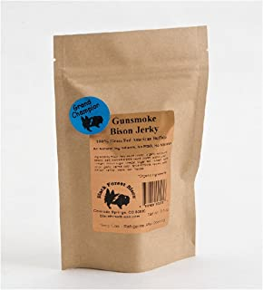 Gunsmoke Bison Jerky, Natural Smoke Flavor, all natural GLUTEN FREE 3.5oz