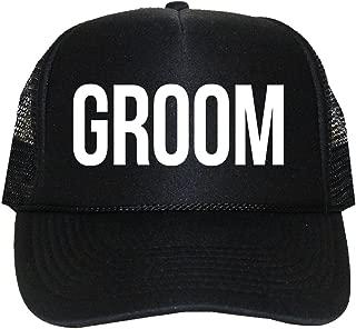 Classy Bride Groom Trucker Hat for The Groom Black