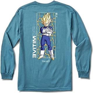 x DBZ 3: Vegeta Glow Long Sleeve T-Shirt (Slate)