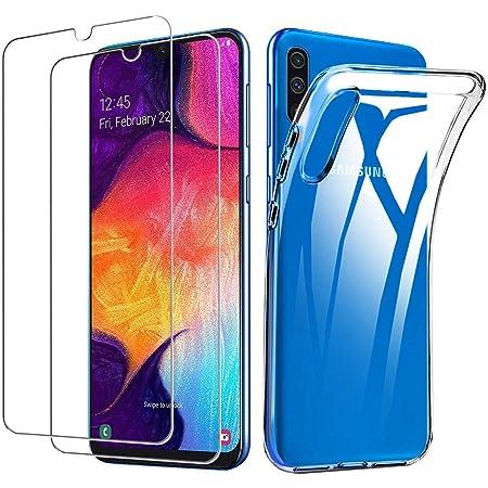 Lifeacc Compatibile con Cover Samsung Galaxy A50/A30s/A50s & Pellicola Protettiva in Vetro Temperato [2x], Morbido Trasparente Silicone Cover Samsung A50/A50s, Cover Samsung A30s