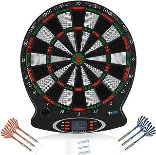 Yosoo Health Gear - Diana electrónica para juegos de mesa con 6 dardos y 3 tornillos para juegos de interior (pilas no incluidas)
