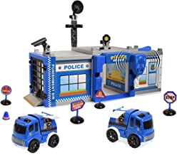 WolVol Do-It-Yourself Police Station Garage - Build & Construct Your Own Playset - Fun Toy for Kids & Children