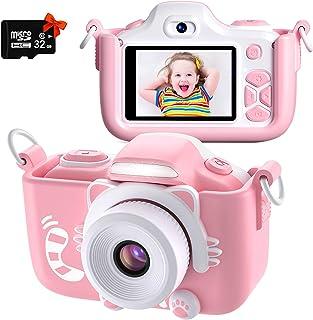 Kriogor Appareil Photo pour Enfants, Caméscope Selfie pour Appareil Photo Numérique pour Petites Filles, 2 Pouces LCD / 10...
