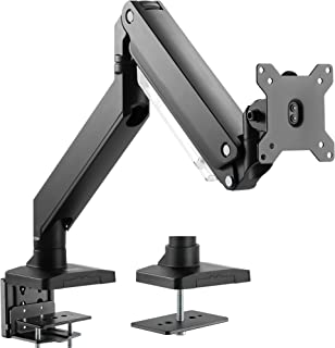 VIVO Premium Aluminum Heavy Duty Arm, Standard and Widescreen Single Monitor Desk Mount with Instant Pneumatic Spring Height Adjustment   VESA Stand fits 1 Screen up to 32 inches (STAND-V101G1)