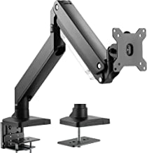 VIVO Premium Aluminum Heavy Duty Arm, Standard and Widescreen Single Monitor Desk Mount with Instant Pneumatic Spring Height Adjustment | VESA Stand fits 1 Screen up to 32 inches (STAND-V101G1)