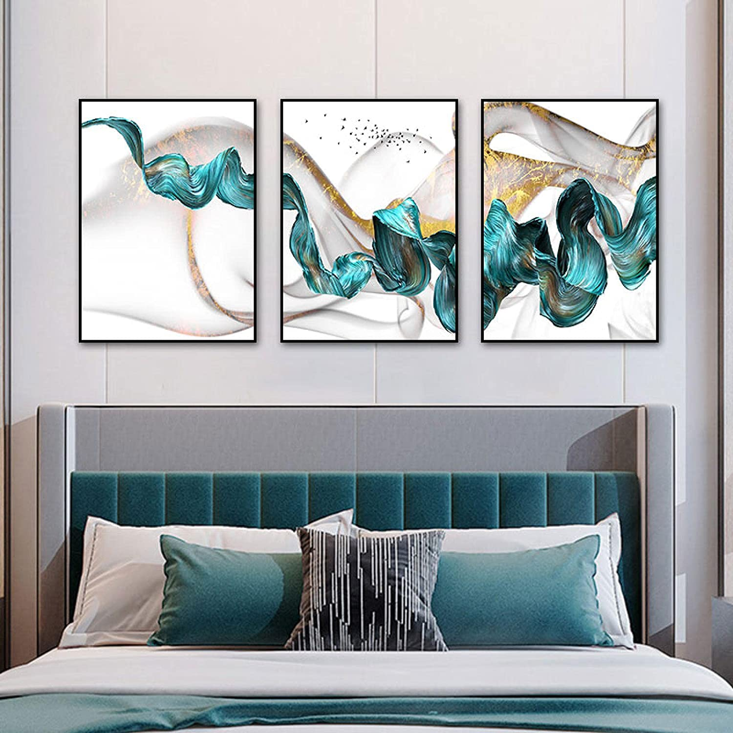 Nordic Blue Mountain Painting Canvas Posters Abstract 70% OFF Outlet a Art Manufacturer OFFicial shop Wall