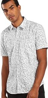 DJ & C By FBB Men Classic Collar Printed Shirt White