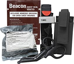 MediTac Gen 2 Deluxe Combo IFAK Kit - Feat. Tourniquet and Holder, Beacon Vented Chest Seal, Emergency Hemostatic Control ...