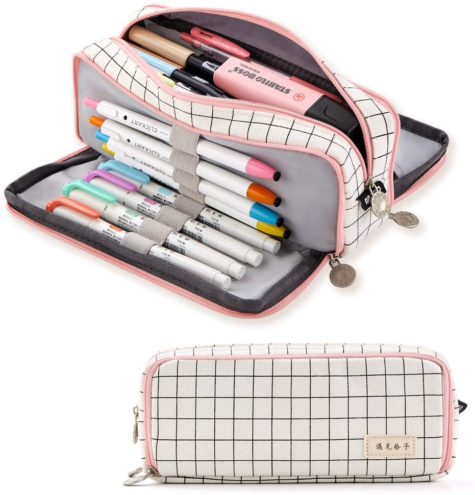 Year-end gift ANGOOBABY Large Pencil Case Big P Capacity Canvas Compartments Denver Mall 3