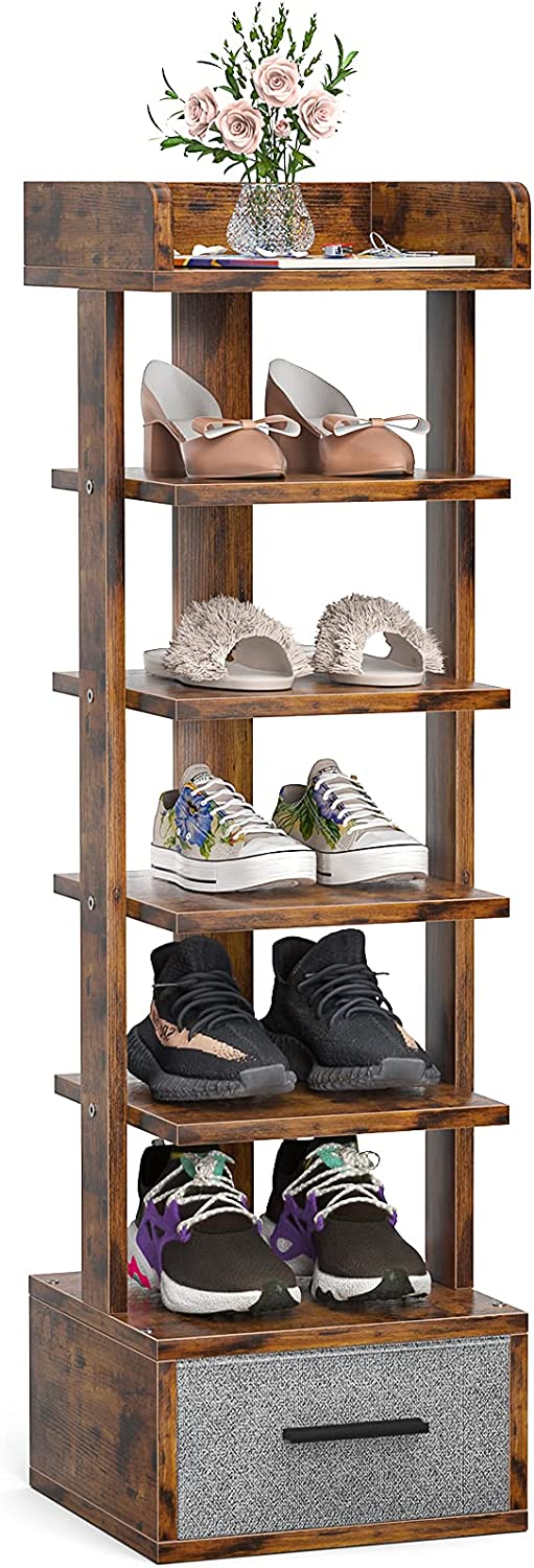 Vertical Shoe Rack For Raleigh Mall Corner Narrow Karcog Low price Small Space Tier 6