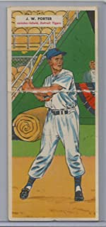 1955 Topps Double Headers Baseball J.W. Porter-Thorton Kipper Card #'s 9 & 10 Very Good Condition (CSC)