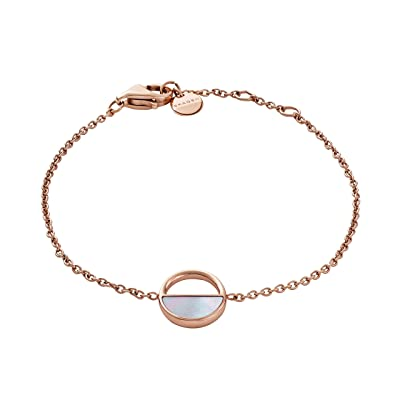 Skagen Agnethe Rose-Tone and Mother-of-Pearl Bracelet (Rose Gold) Bracelet