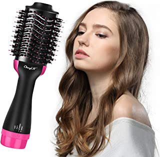 Hot Air Brush, CkeyiN Hair Dryer & Volumizer Professional Ceramic Blow Dryer for Straightening Curling Drying Combing for All Hair Types