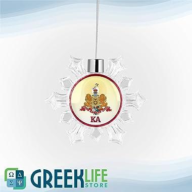 greeklife.store Kappa Alpha Order Snowflake Round Ornament Christmas Decor