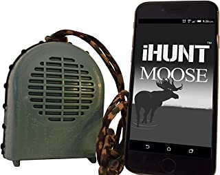 iHunt XSB Moose Call & Bluetooth Speaker Combo, EDIHXSBM, FREE App with 60 + Moose Calls, Compact Rugged Design