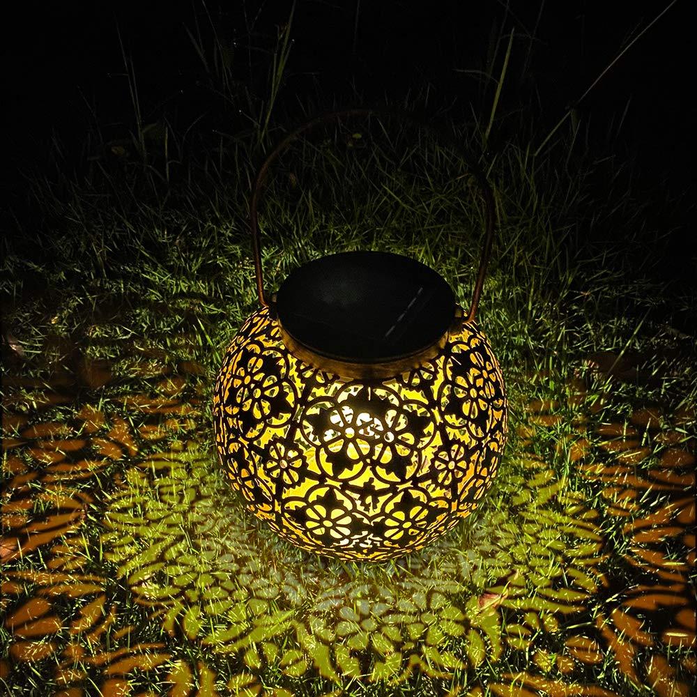Farol Solar Exterior Jardin, MMTX LED Lámpara IP44 Impermeable Solar Jardín Luz Colgante Solar del Jardín Luces de Linterna Impermeable Portátil para Jardín Patio al Aire Libre Partido Decorativo: Amazon.es: Iluminación