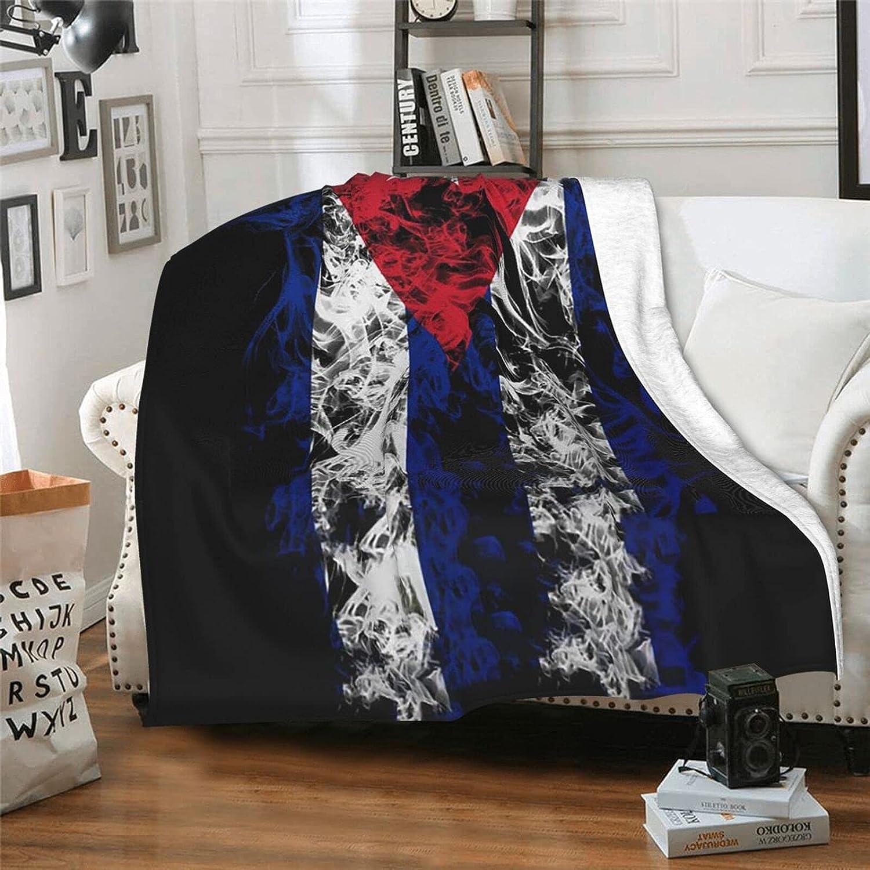 Cuba Cuban Flag Rapid rise Blanket Max 63% OFF Smooth Sofa for Soft Throw Print