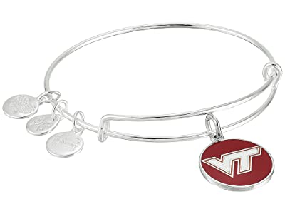 Alex and Ani Color Infusion Virginia Tech Logo II Bangle (Shiny Silver) Bracelet