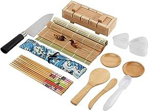 Colovis 19-teiliges Sushi-Set mit 2 Sushi-Matten, 1 Sushi-Fo