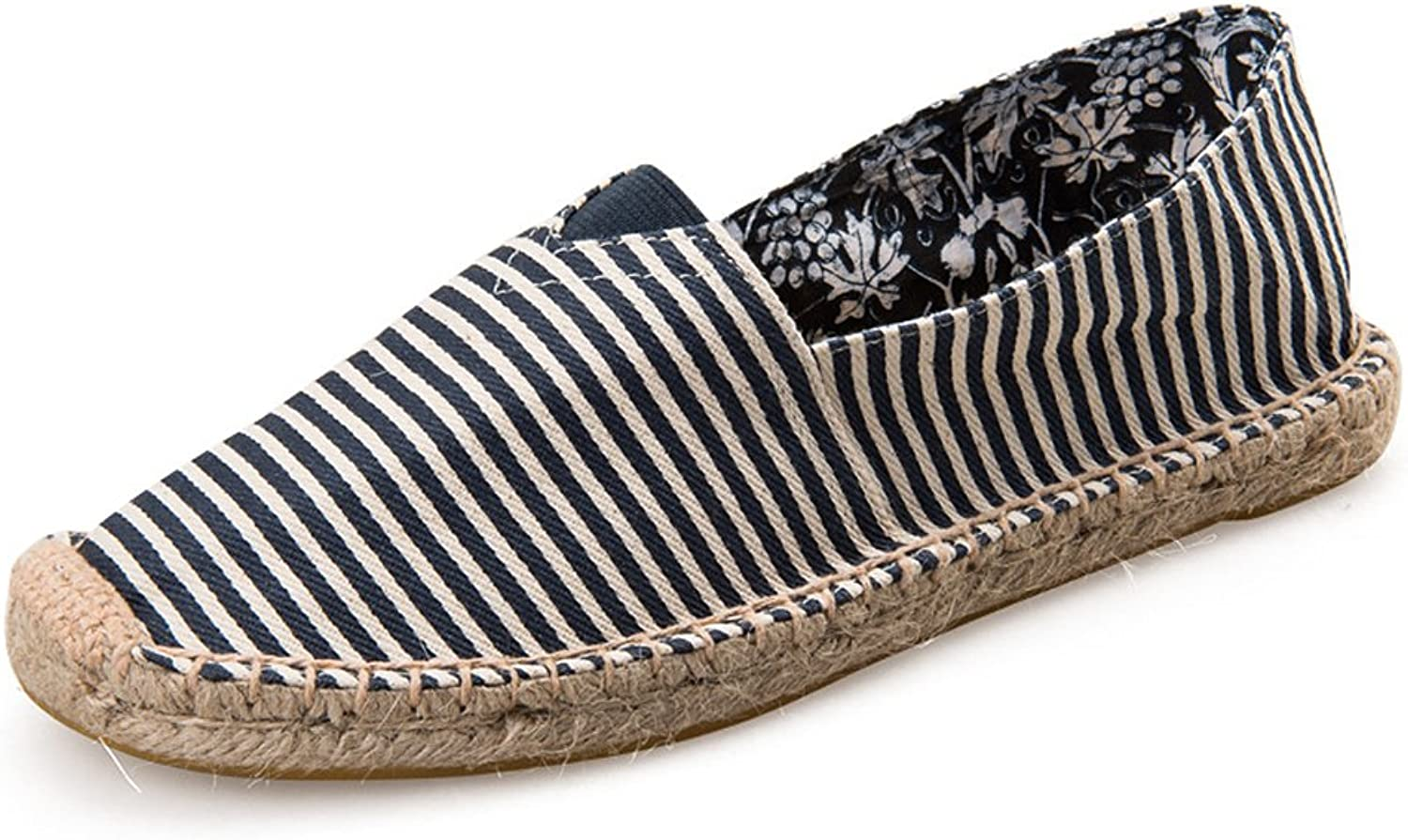 Fereshte Women's Comfort Canvas Cap Toe Slip-On Platform Flat Espadrilles