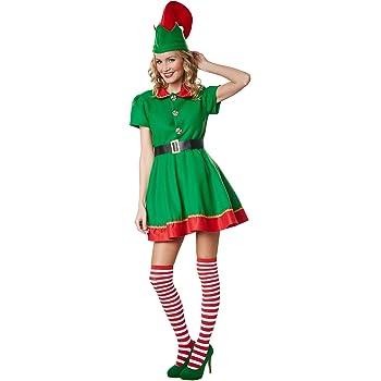 dressforfun 900574 Disfraz de Mujer Elfo de Navidad, Disfraz ...