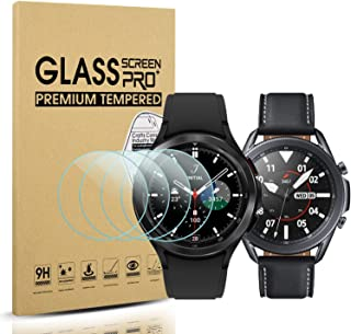 Diruite 4-pack för Samsung Galaxy Watch 4 Classic 46 mm (2021)/Galaxy Watch 3 45 mm (2020) skärmskydd i härdat glas [anti-...