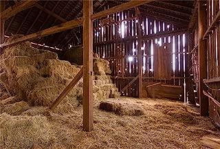 AOFOTO 10x7ft Barn nativity Photography Backdrops Rustic Farmhouse Haymow Birth OF Jesus Christ Straw Hay Bales Background Rural Haystack Farm Ranch Christmas Party Decoration Photo Studio Props Vinyl