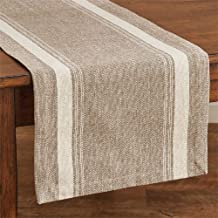 Park Designs 72 Inches Length x 14 Inches Cotton Marshal Stripe Table Runner Kitchen Linens