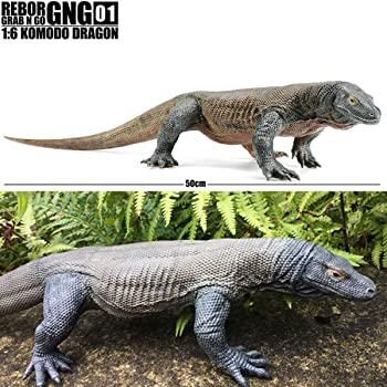REBOR 1/6 サイズ コモドオオトカゲ コモドドラゴン GNG01 Komodo Dragon プラモデル リアル フィギュア PVC 大人 おもちゃ 動物 模型 プレゼント オブジェ プレミアム 50cm級 オリジナル 塗装済 完成品