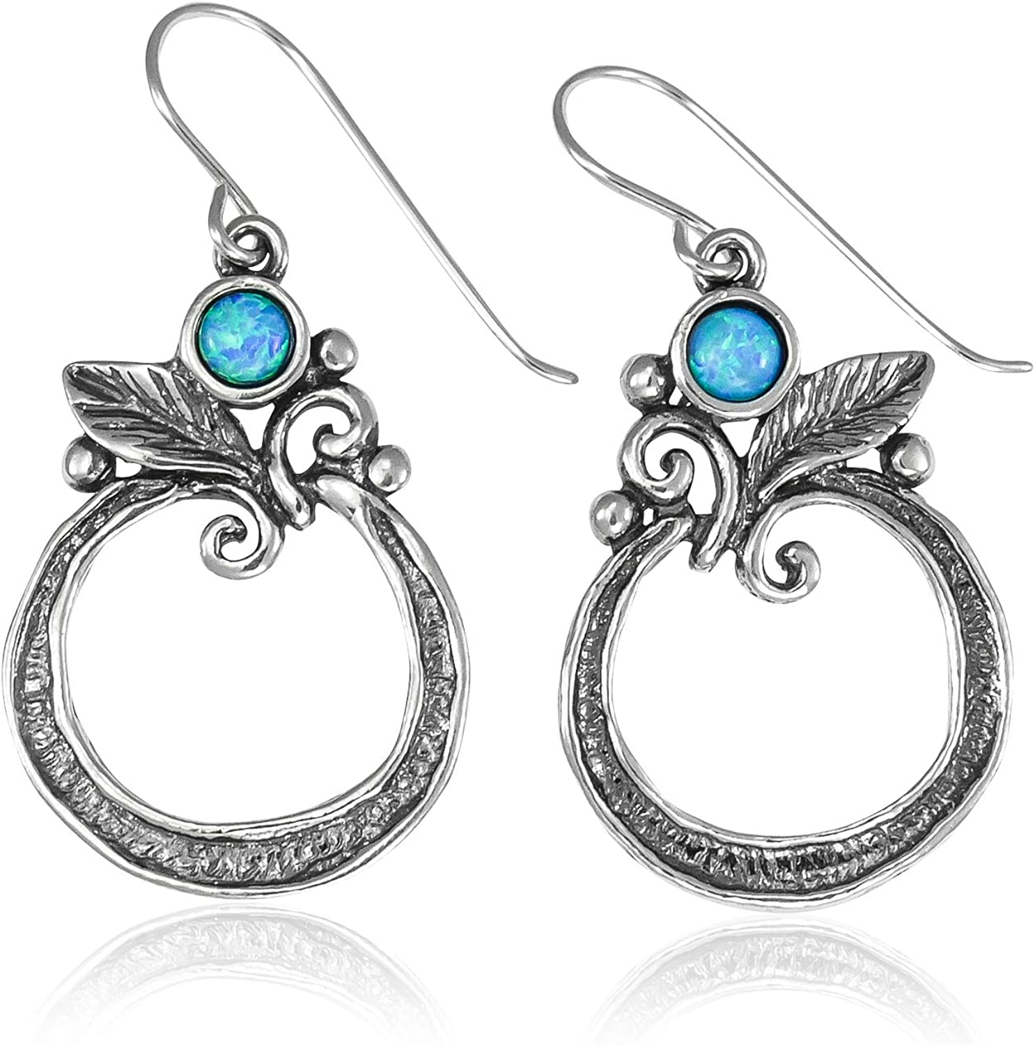 SHABLOOL 2021 autumn and winter new Earring 925 Sterling Silver Cabochon Op 5% OFF Blue With Light