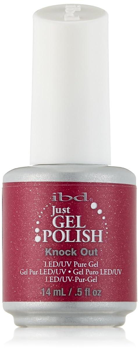 地殻連帯飛行機IBD Just Gel Polish - Knock Out - 0.5oz / 14ml
