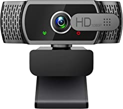 1080P Webcam with Microphone - FHD Web Cam with Privacy Cover, Plug and Play USB Web Camera for Desktop & Laptop Video Con...