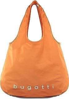 Bugatti Bona Shopper L, Handtasche Damen Groß, Damenhandtasche Schultertasche - Orange