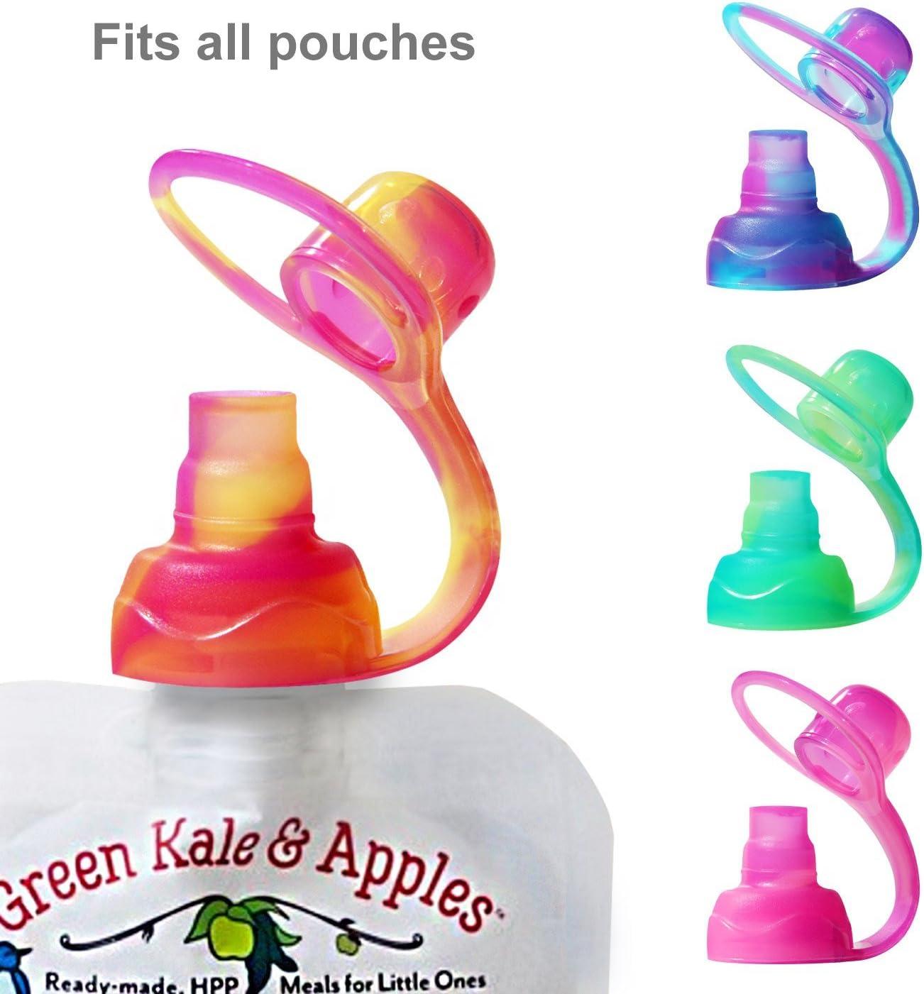 ChooMee Tapas para bolsitas de alimento reutilizable para el bebé 4 piezas