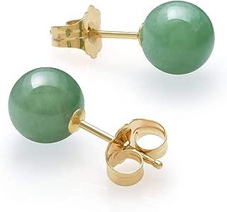 Best jade stud earrings gold Reviews