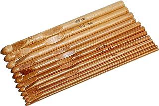 SiAura Material – 1lot de 12crochets tunisiens – En bambou – Assortiment de 3-10mm