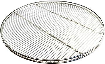 AKTIONA Edelstahl Grillrost 60 cm Grillclub nur 10 mm Stababstand rund mit Reling Schwenkgrill mit 3 Aufhängeösen Grill Neu