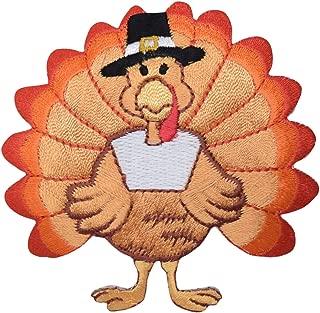 Medium Thanksgiving Turkey Iron on Embroidered Patch