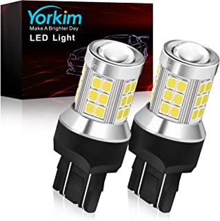 Yorkim 7443 led bulb, super bright 7440 led bulb T20 LED Bulbs with Projector Replacement for led Reverse Blinker Brake Ta...