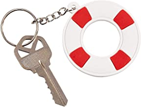 Fun Express - Life Preserver Rubber Key Chains for Summer - Apparel Accessories - Key Chains - Novelty Key Chains - Summer - 12 Pieces
