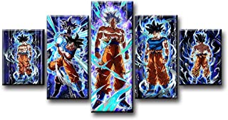 5 Piece Goku Son Ultra Instinct Dragon Ball Z Video Game Poster HD Cartoon Wall Pictures Modern Canvas Painting for Home Decor