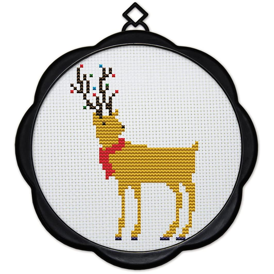 Full Range of Embroidery Starter Kits Stamped Cross Stitch Kits Beginners for DIY Embroidery (Multiple Pattern Designs) - Deer King