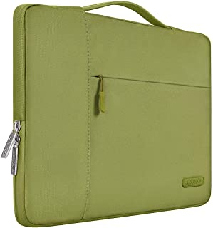 MOSISO Laptop Briefcase Handbag Compatible with 13-13.3 Inch MacBook Air, MacBook Pro, Notebook Computer, Polyester Multifunctional Carrying Sleeve Case Cover Bag, Capulet Olive